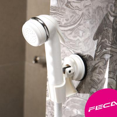 FECA非卡 無痕強力吸盤 輕巧型蓮蓬頭座(白)