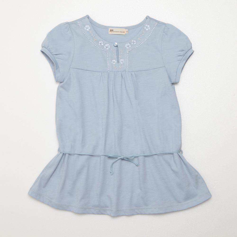 PIPPY 長版針織休閒上衣 粉藍