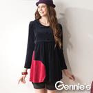 Gennie's奇妮- 大愛心棉絨秋冬長版哺乳上衣(GN071)