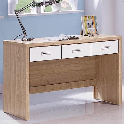 H&D 橡木白4尺書桌 (寬120X深56X高79cm)