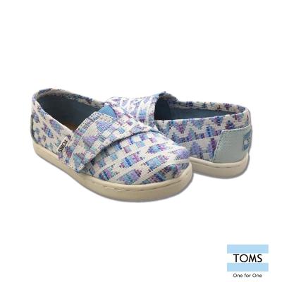 TOMS 編織紋休閒鞋-幼童款