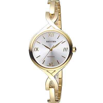 日本麗聲錶RHYTHM浪漫縷空手鍊錶(LE1608S03)-30mm
