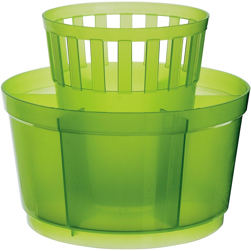 EXCELSA 七格餐具瀝水筒(綠)