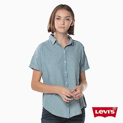 牛仔襯衫 女裝 短袖丹寧 - Levis