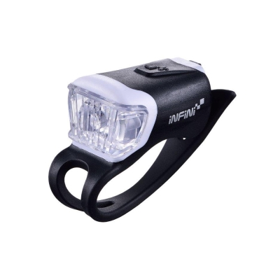 INFINI ORCA I-204W 鯨魚USB充電式白光警示燈 黑