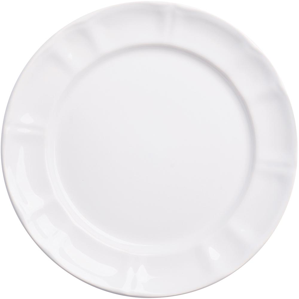 EXCELSA Chic陶製淺餐盤(白22cm)
