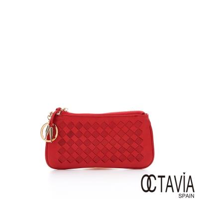 OCTAVIA-真皮編織萬用零錢包