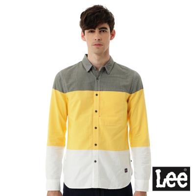 Lee 長袖三色拼接襯衫/UR-男款