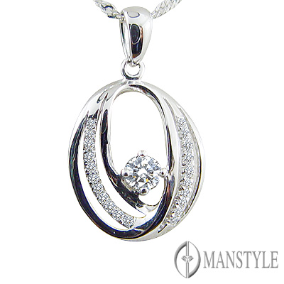 MANSTYLE DIAMOND「追求真愛」0.10ct 南非天然鑽墜