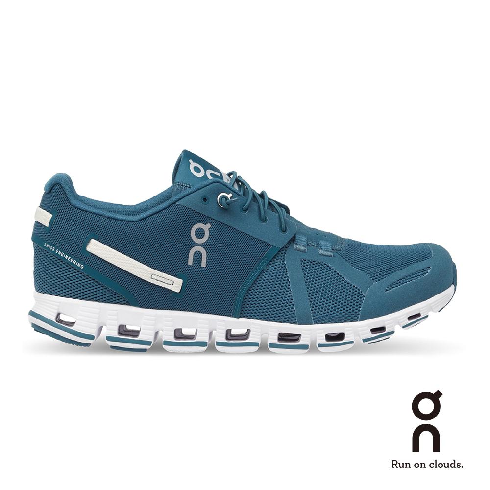 ON 瑞士雲端科技跑鞋-輕量雲馬卡龍系列 男款 孔雀藍