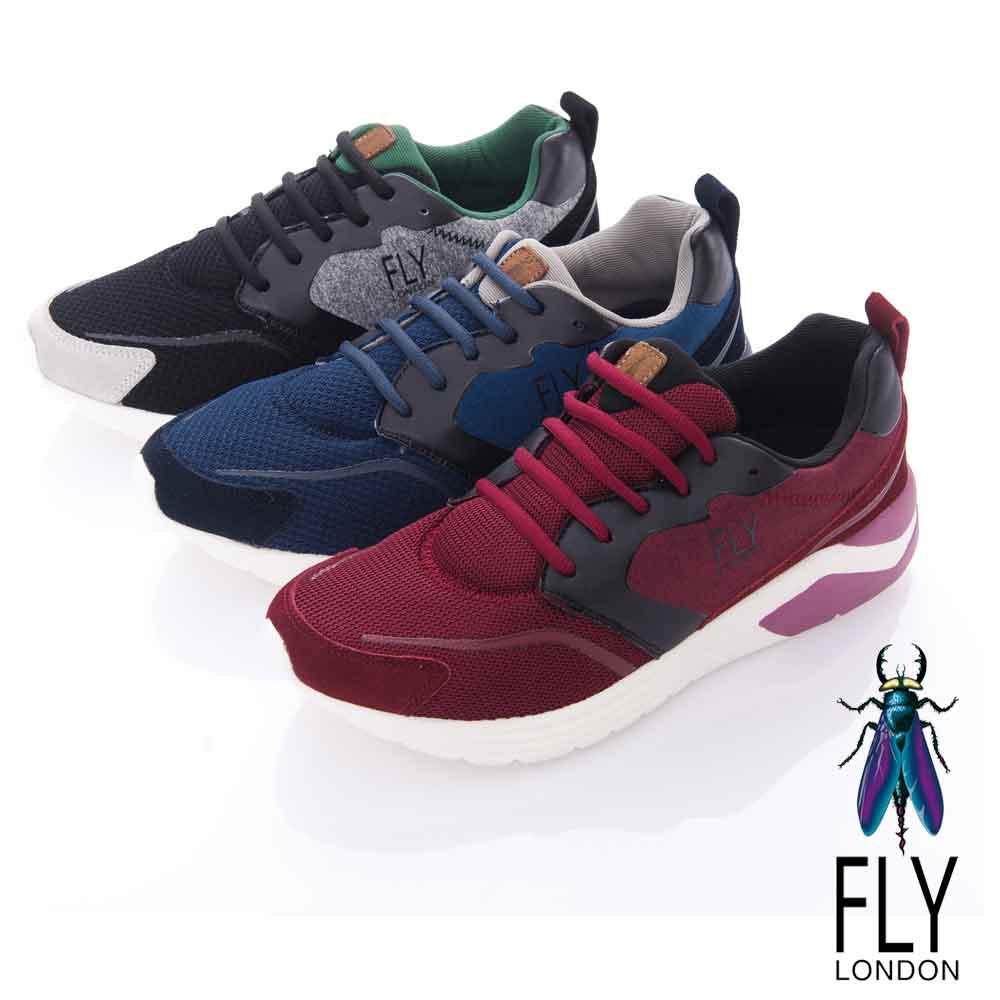 Fly London(男)- WARMUP 暖男專用 都會輕量運動鞋-鯨魚黑
