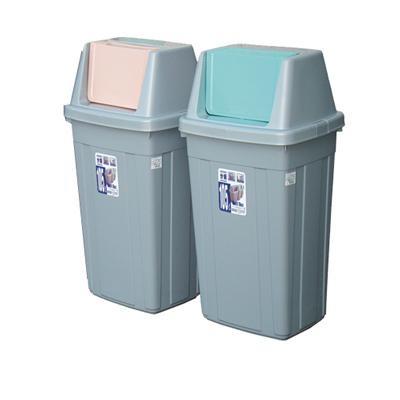 105L美式附蓋垃圾桶(二入)