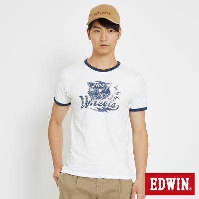 EDWIN 復古原素動物T恤-男-白色