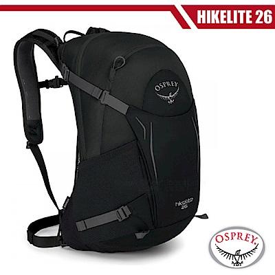 【OSPREY】新款 HIKELITE 26 專業輕量多功能後背包_黑 R