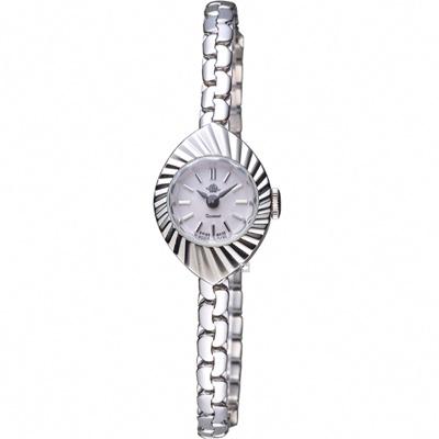玫瑰錶 Rosemont 骨董風玫瑰系列X杏仁果狀時尚鍊錶-銀/17mm