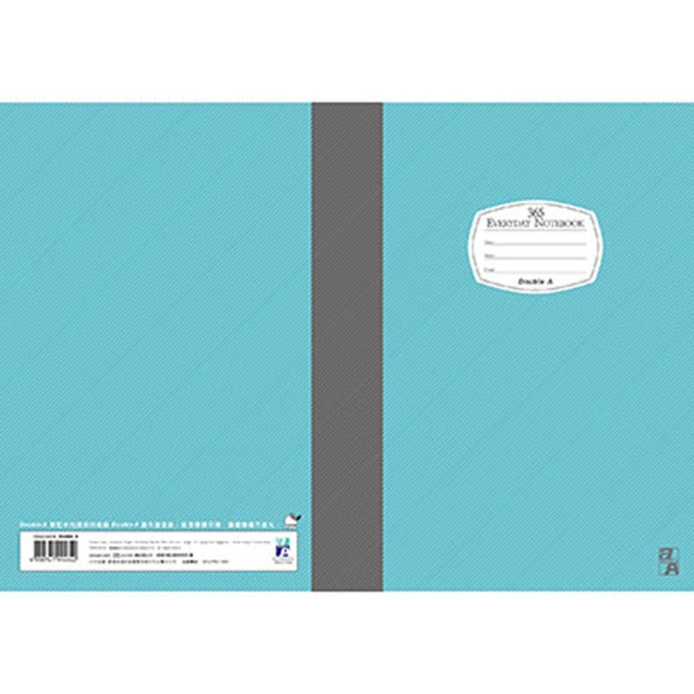 【10入組】Double A  A5/25K膠裝筆記本-藍40頁 每日經典系列 @ Y!購物