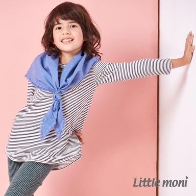 Little-moni-Makids-條紋長版上衣