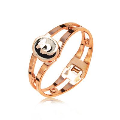 ACUBY-鋼製小熊環繞手工上色手環