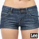 Lee 牛仔短褲  合身簡約牛仔短褲-女款-藍
