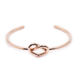 CK Calvin Klein 甜美愛心款手環-玫瑰金色