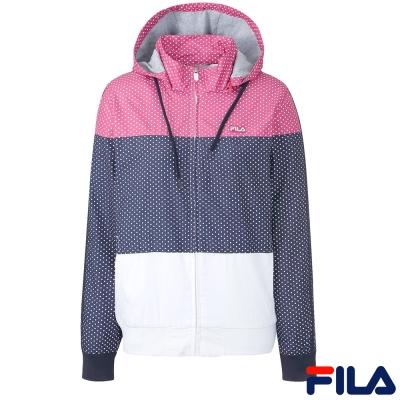 FILA女風衣外套-丈青-5JKQ-5421-NV