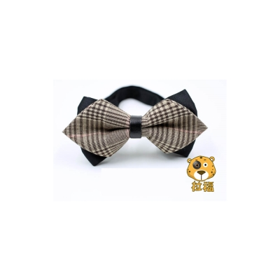【拉福】格子紋紳士精工領結新郎結婚領結糾糾 (咖啡格)
