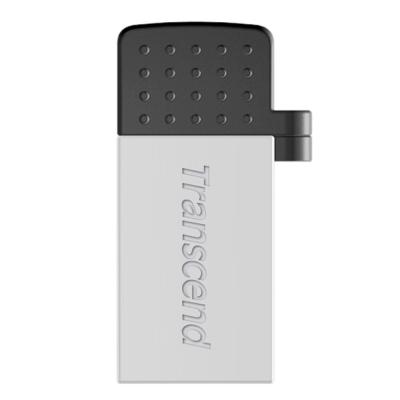 創見USB OTG行動小硬碟系列 64G JetFlash380行動儲存碟(銀色)