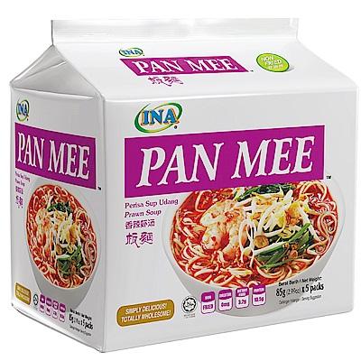 INA PAN MEE 香辣鮮蝦湯麵-香辣蝦湯板麵(85gx5入)