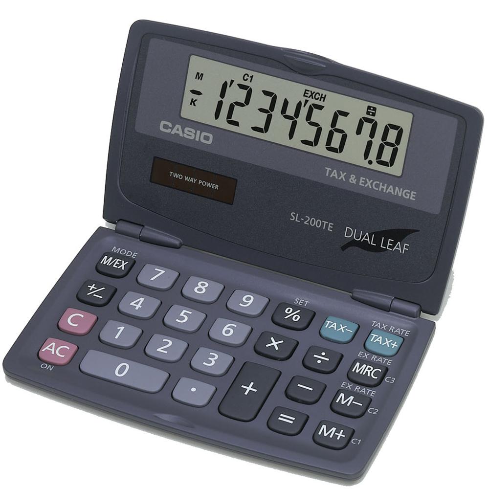 CASIO 8位數掀蓋式口袋型計算機(SL-200TE )