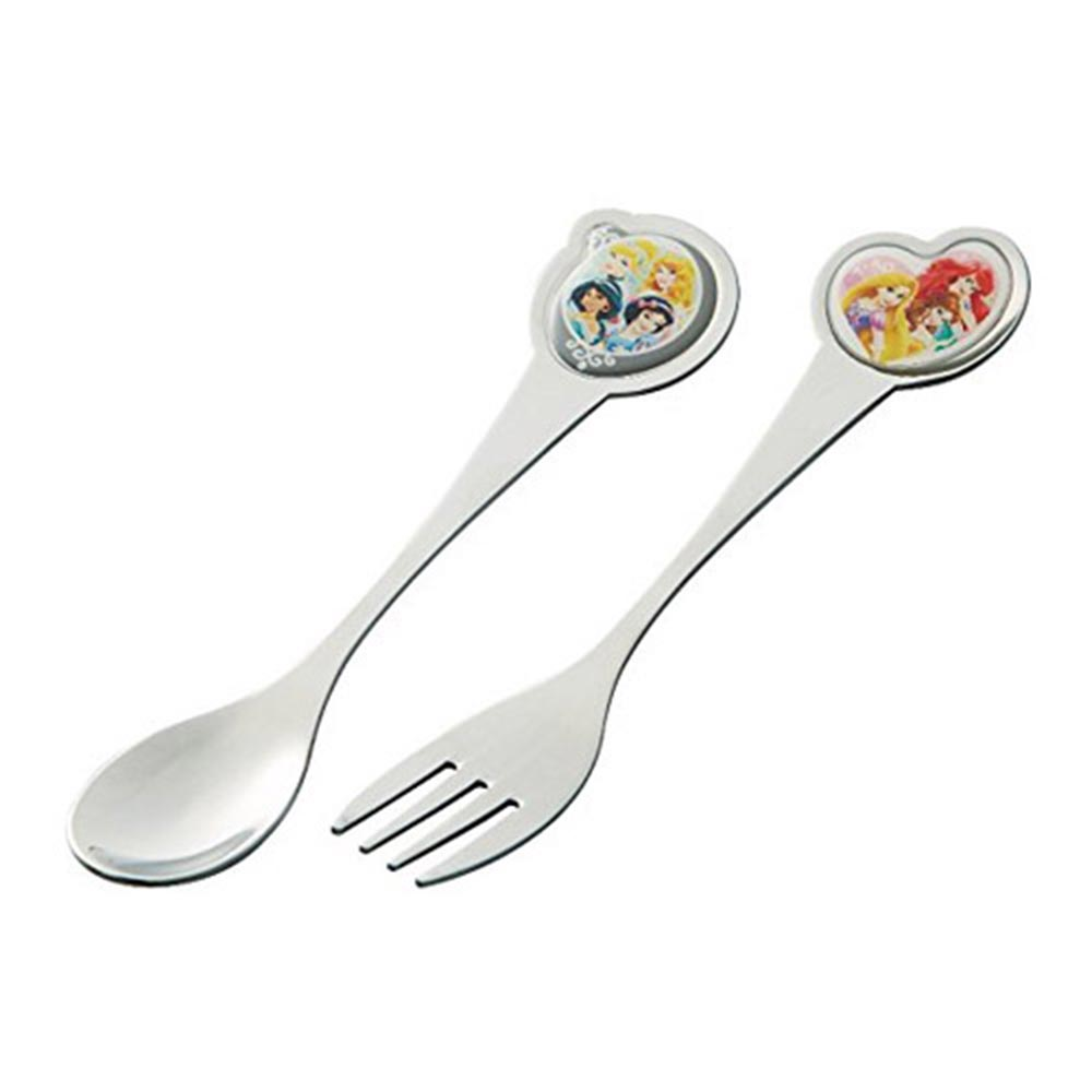 SKATER迪士尼公主不鏽鋼湯匙叉子組