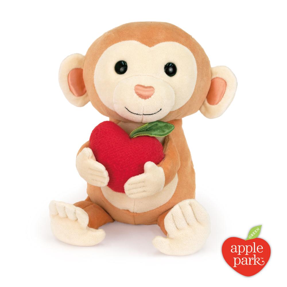 美國 Apple Park 有機棉玩偶彌月禮盒 - 蘋果小猴