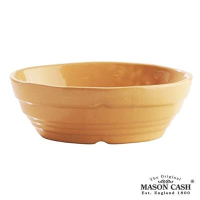 MASON 浮雕陶瓷橢圓烤派盤18CM(黃)-8H