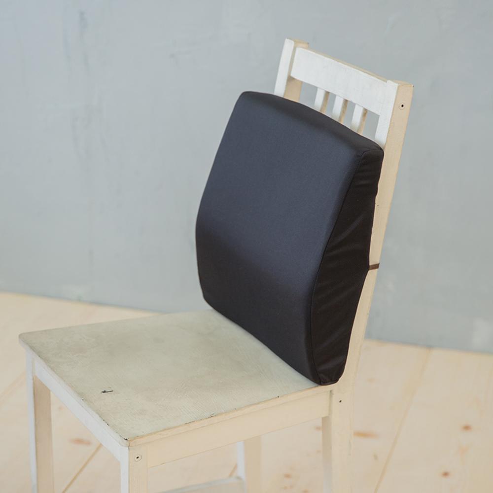 凱蕾絲帝-台灣製造 完美承壓 超柔軟記憶護腰墊-黑1入