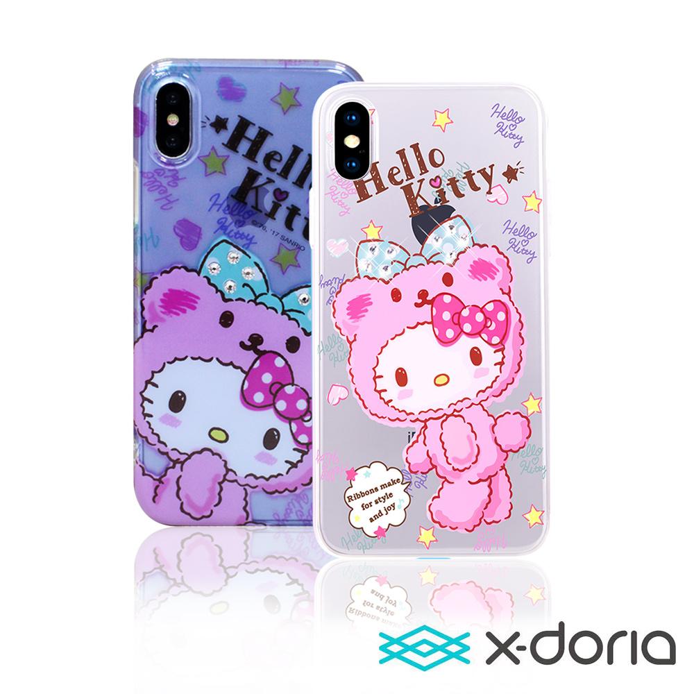 X-doria Hello Kitty iPhone X 俏皮熊系列保護硬殼