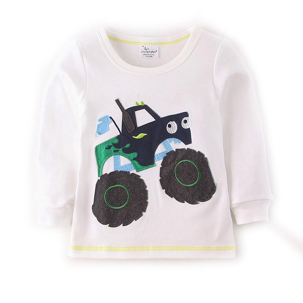 歐美風 霸氣越野車 男童純棉長袖T恤