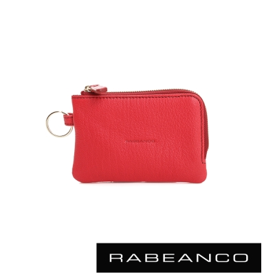 RABEANCO 經典小羊皮萬用鑰匙零錢包 – 石榴紅
