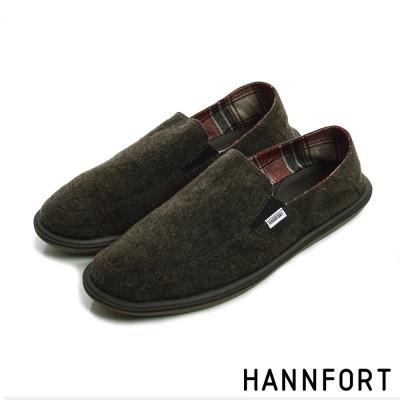HANNFORT COZY可機洗兩穿式後踩氣墊懶人鞋-男-愜意咖
