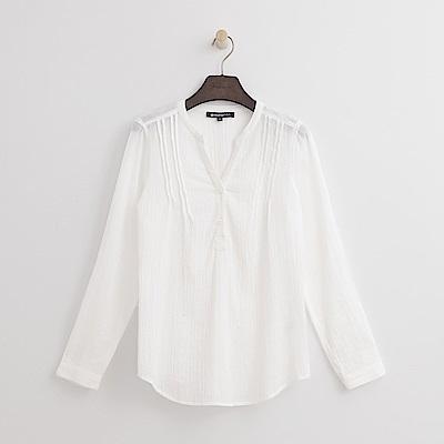 Hang Ten - 女裝 - V領寬版襯衫-白色