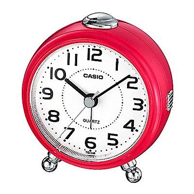 CASIO 經典輕巧桌上型指針鬧鐘-紅(TQ-149-4)