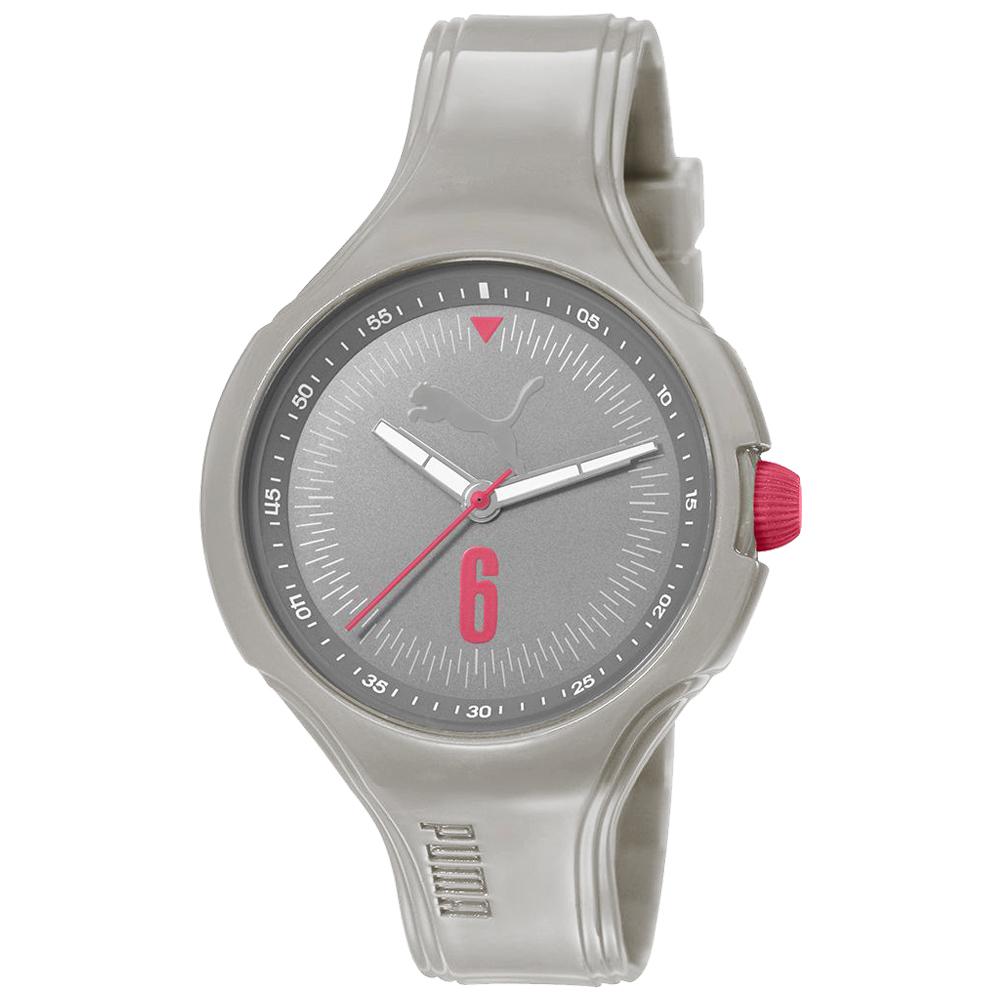 PUMA 舞動青春輕量運動腕錶-淺灰/42mm