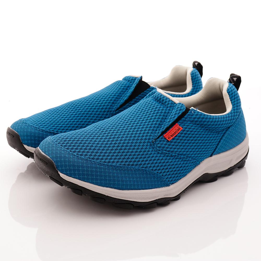 日本Supplist戶外健走鞋-簡約涼感款-ON705藍(男段)