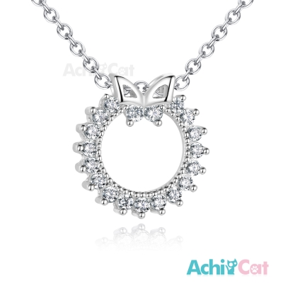 AchiCat 925純銀項鍊 璀璨花圈 蝴蝶 鎖骨鍊