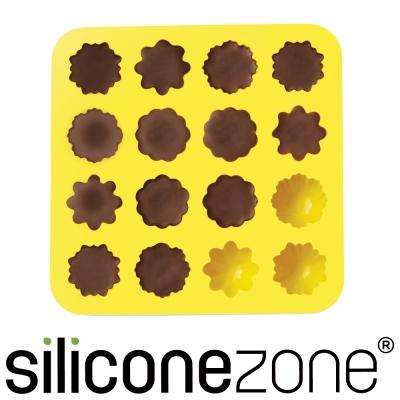 Siliconezone 施理康耐熱小花造型巧克力模/冰模-黃色