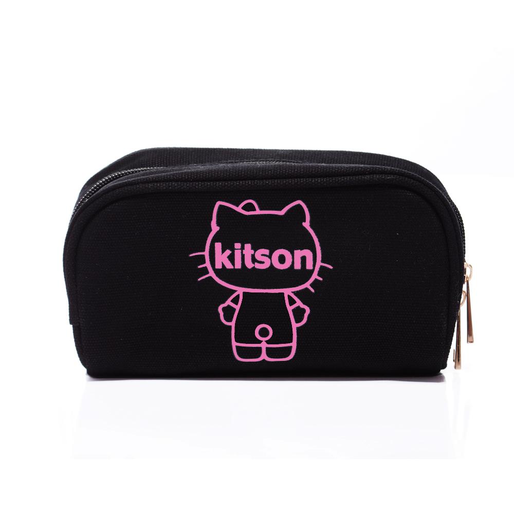 kitson x Ribbon Hello Kitty Pouch (粉x黑)