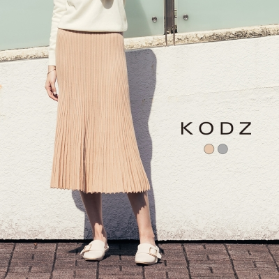 東京著衣-KODZ 質感修身顯瘦針織長裙-S.M.L(共二色)