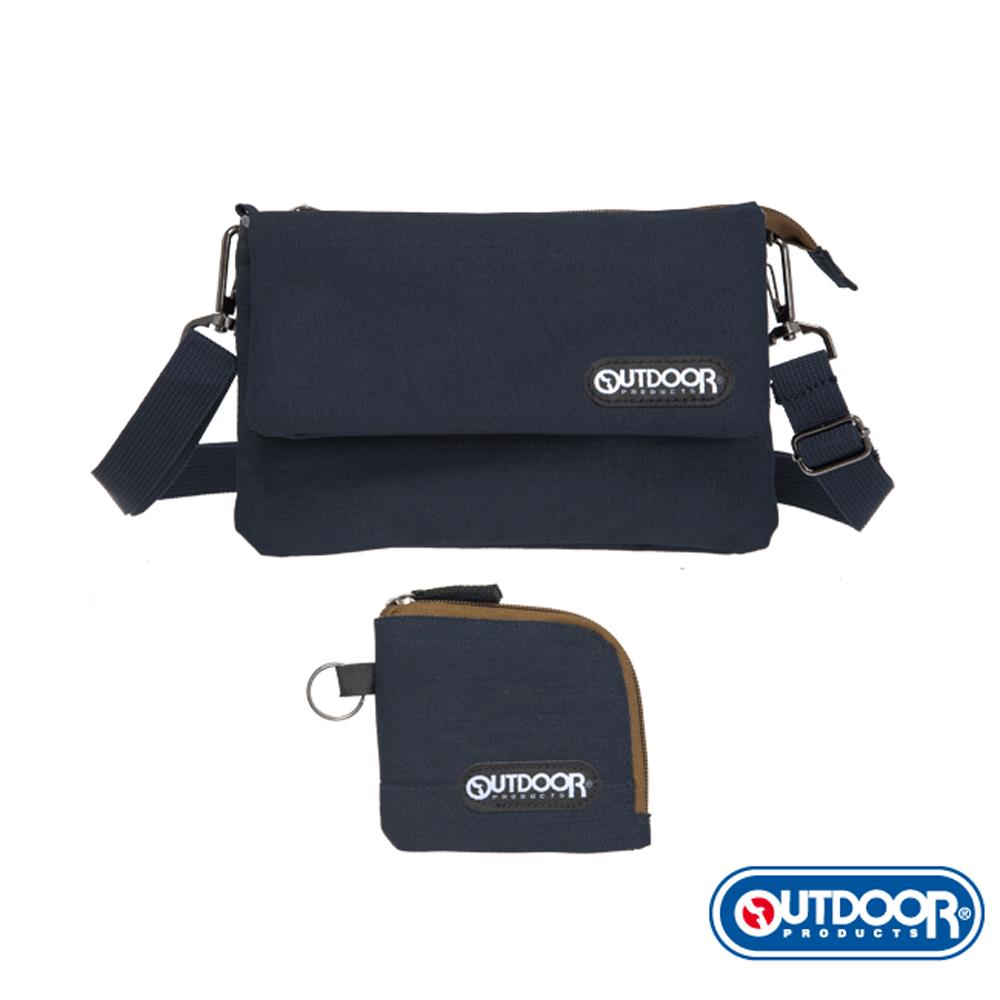OUTDOOR-輕旅遊系列-側背包+零錢包-黑-ODS17F01BK