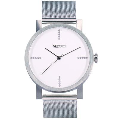 MEDOTA極簡輕薄手錶-奢華系列男錶銀色40mm