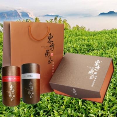 東方藏玉茶葉禮盒(阿里山紅烏龍+阿里山高山茶)