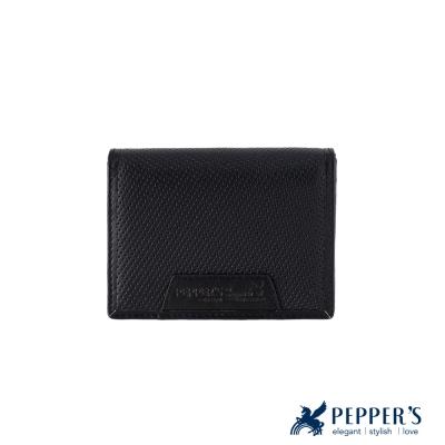 PEPPER-S-真皮胡椒名片夾-煙燻黑