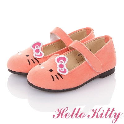 HelloKitty 高級手工超纖皮輕量減壓樂福娃娃童鞋 粉色